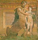 Chiron instruisant Achille
